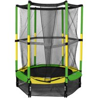 Bounce Pro 55-Inch My First Trampoline, with Safety Enclosure, Green